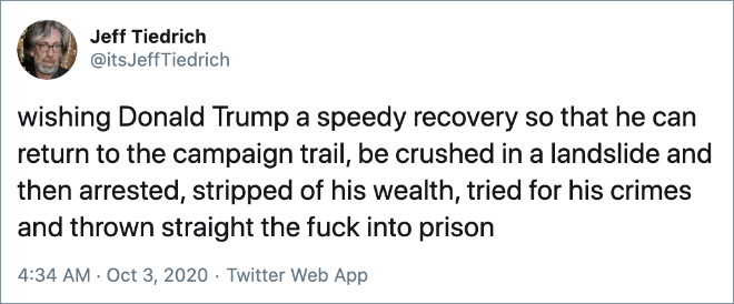 Get well soon, Donald!