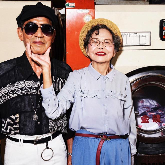 Fashionable couple.