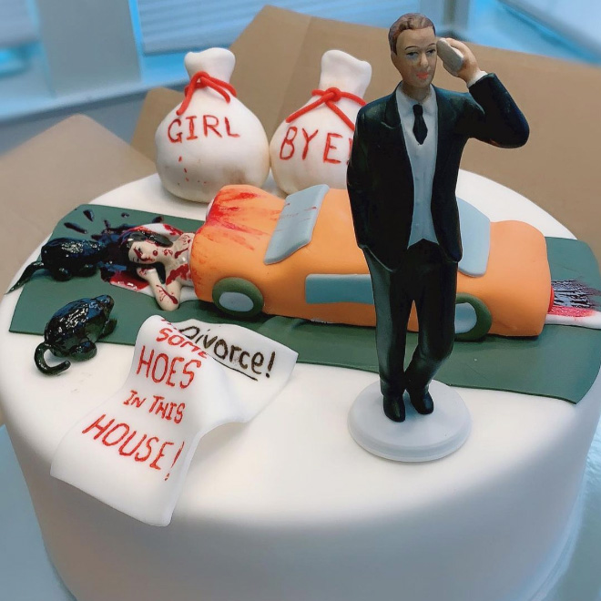 Divorce cake.