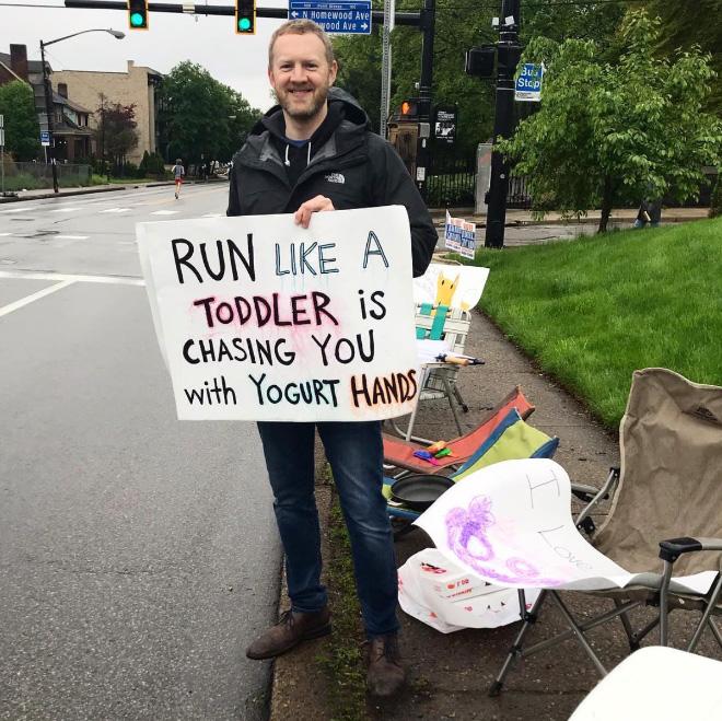 Funny marathon sign.
