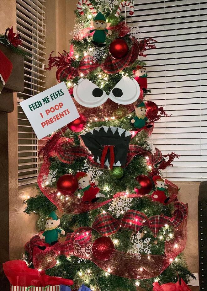 Brilliant Christmas tree idea.
