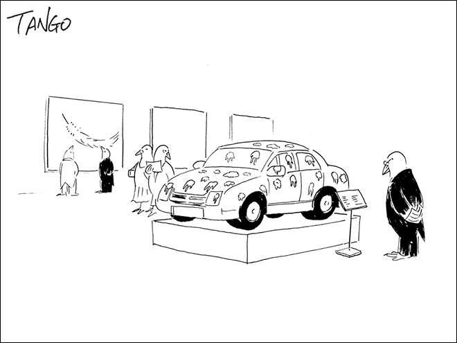 Funny, clever cartoon by Shanghai Tango.