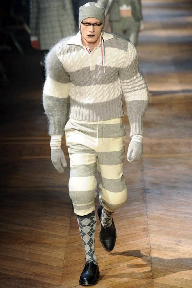 The peak of men's fashion.