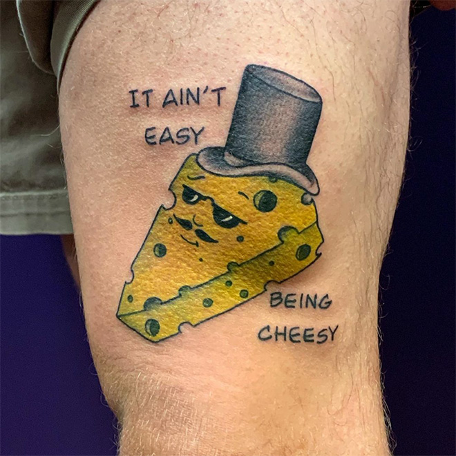 Funny tattoo.