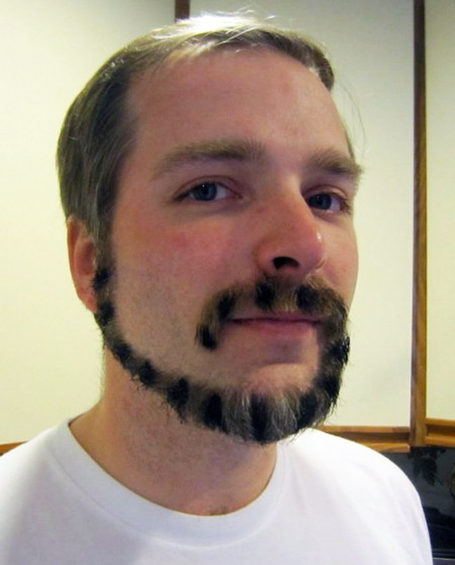 Monkey tail beard.