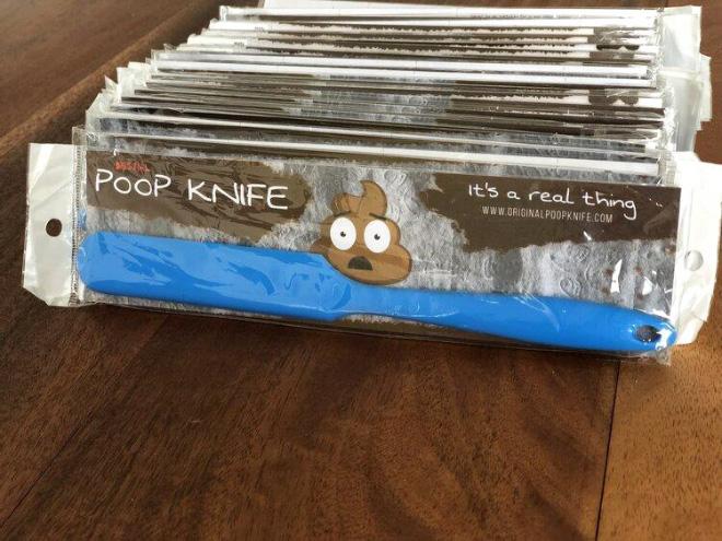 Poop knife.