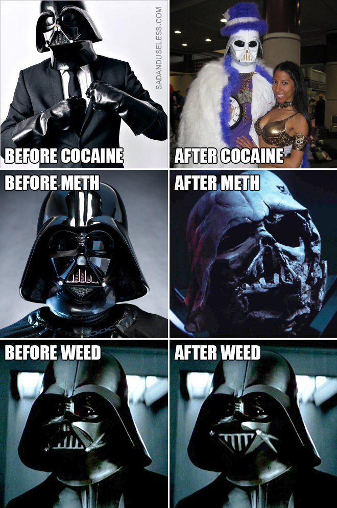 Darth Vader: before and after.