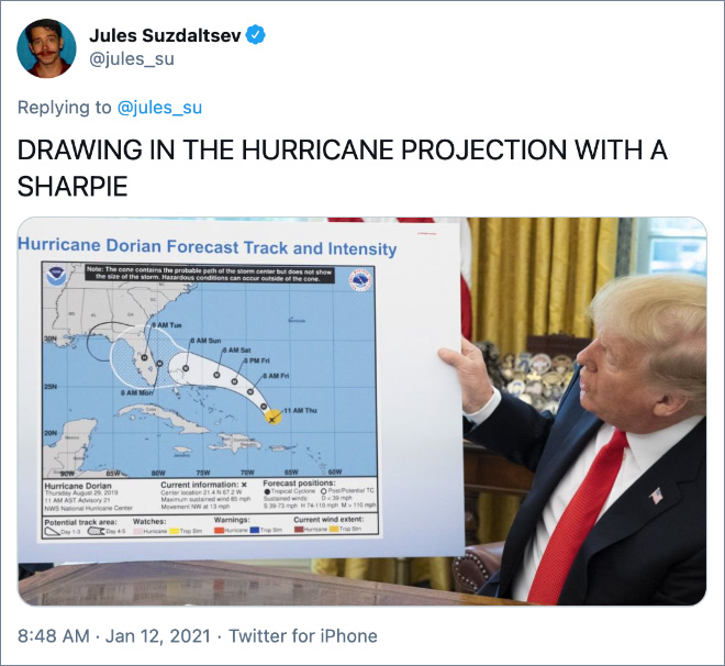 DRAWING IN THE HURRICANE PROJECTION WITH A SHARPIE