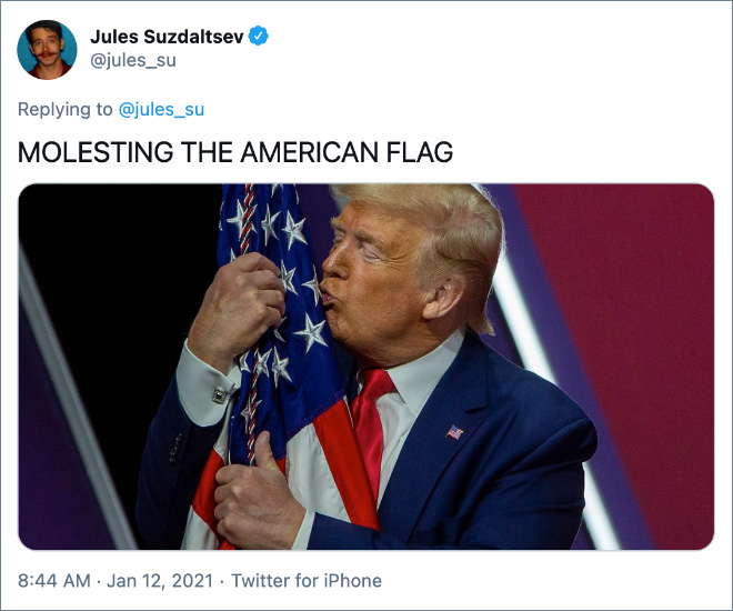 MOLESTING THE AMERICAN FLAG