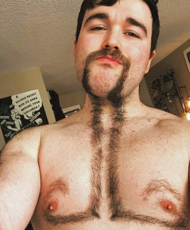 Chest hair art.
