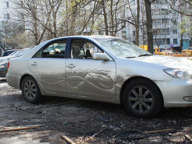 Dirty car art.