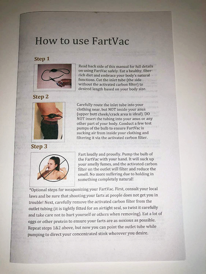FartVac fart filter.