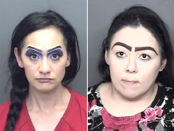 Mugshots are the crazy eyebrows goldmine.