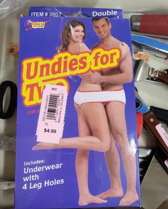 Awkward thrift store find.
