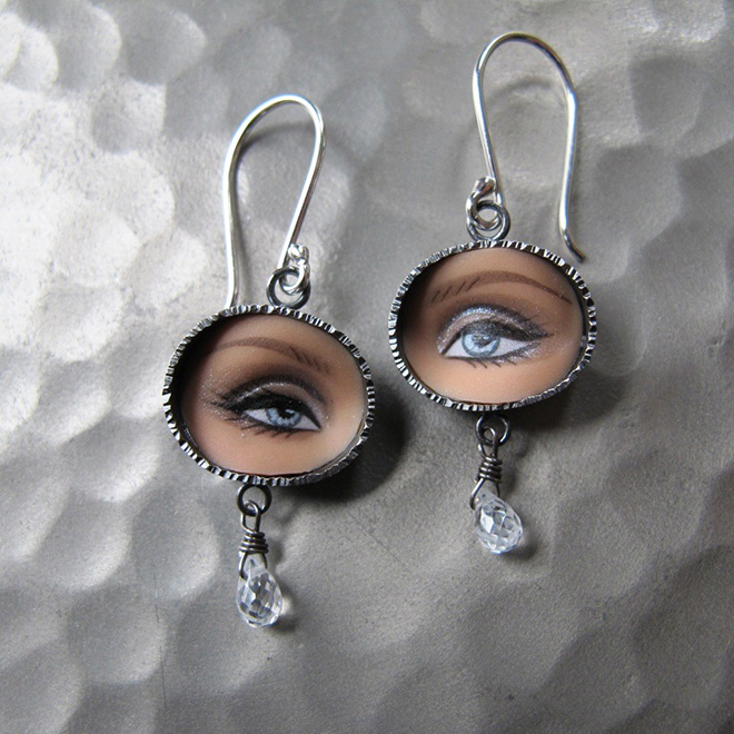 Jewelry made from Barbie doll parts.