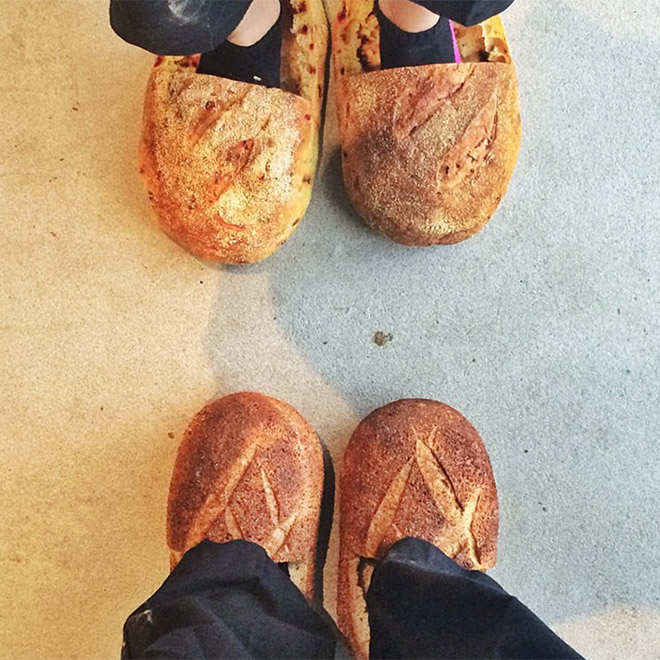 Bread shoes.