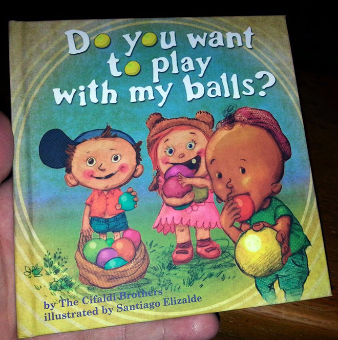 Dirty title for a completely innocent book.