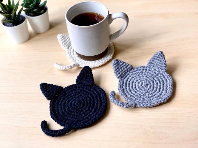 Cat butt mug coasters.