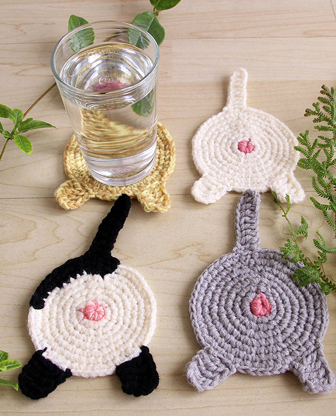 Cat butt coasters for your water glass.