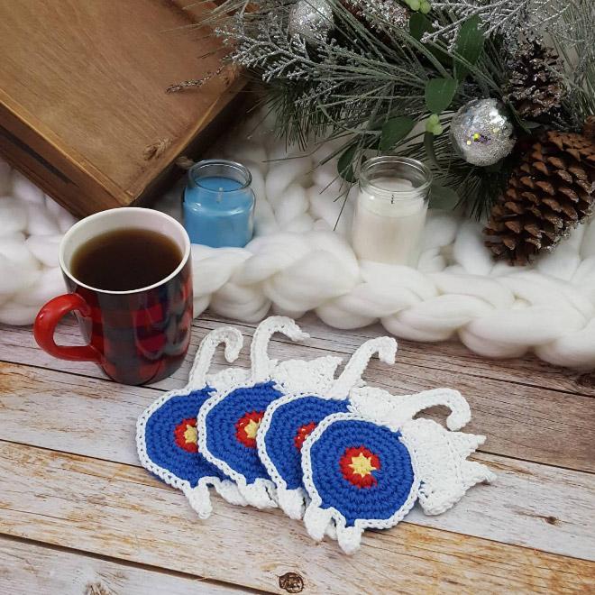 Cat butt coffee coasters.