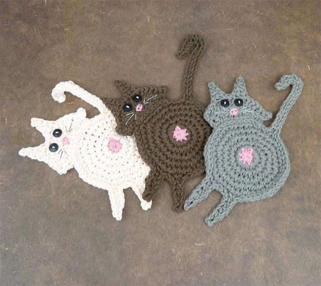 Cat butt coasters.