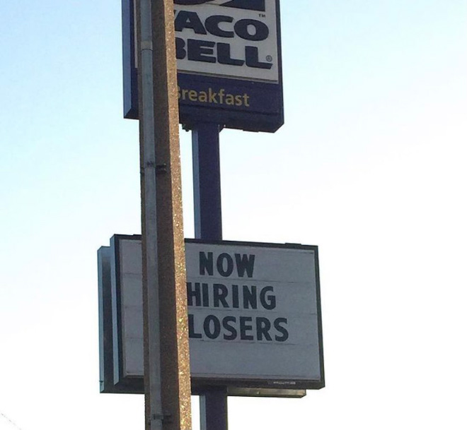 Funny fast food sign.