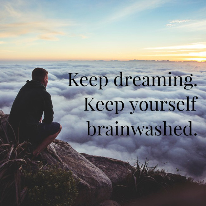 Inspirational poster created by A.I.