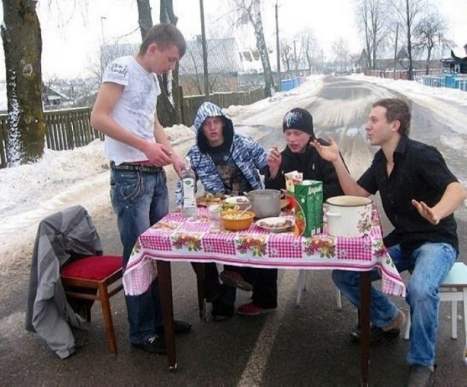 Nobody parties as hard as Russians.