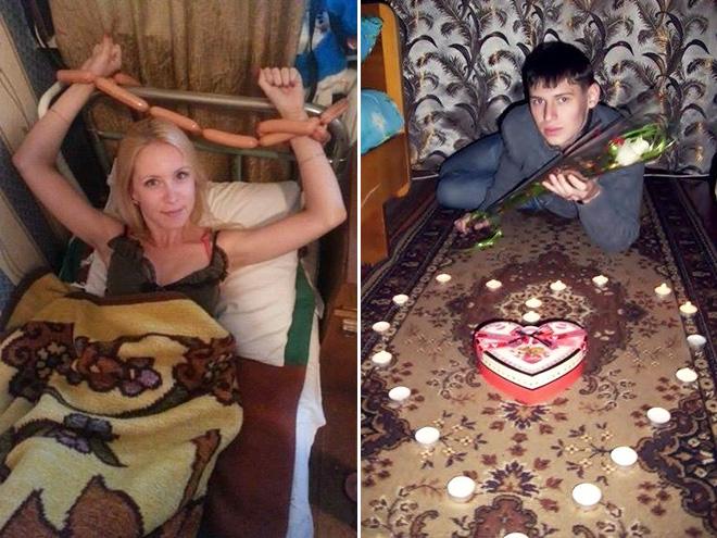 Romantic Russian dating site profile picture.