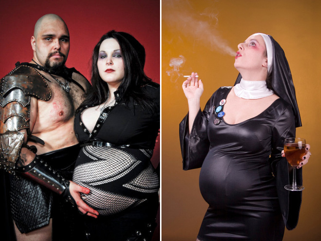 Some people have very *ahem* interesting ideas for pregnancy photos...