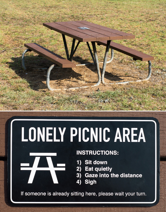 Lonely picnic area.