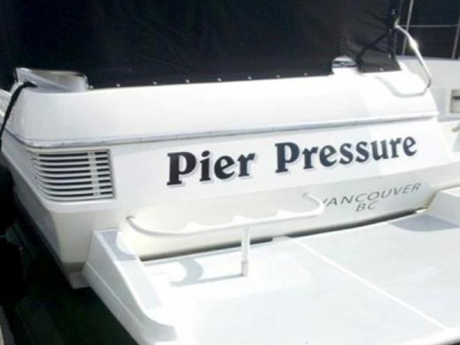 Funny boat name.