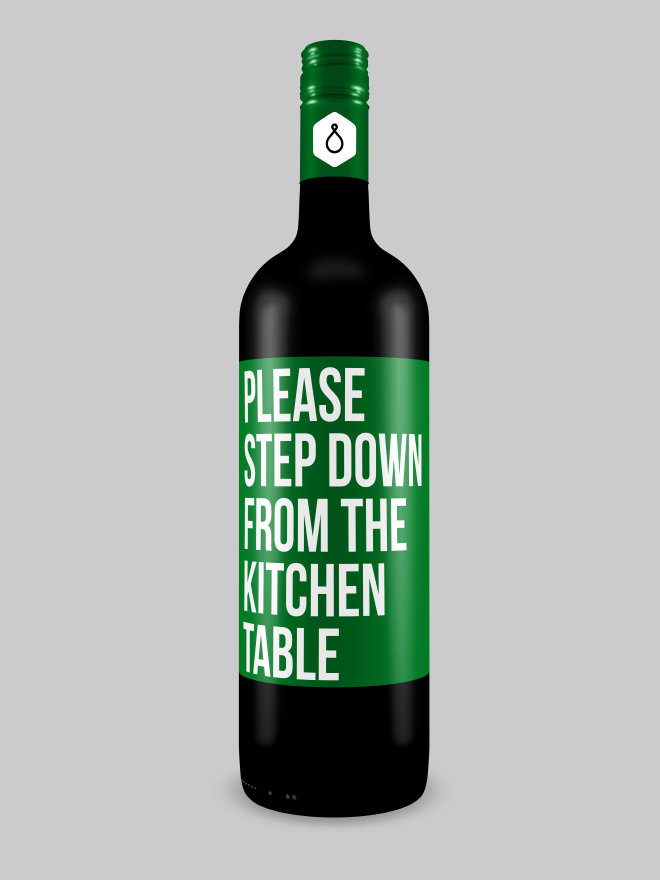 Honest wine label.