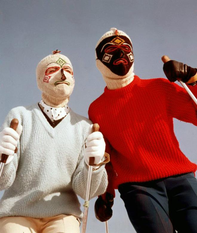 Creepy vintage knitted balaclavas is my favorite thing.