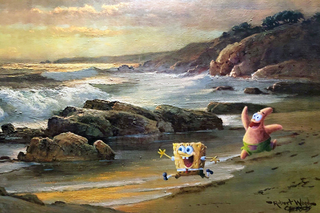 Repainted thrift store painting.