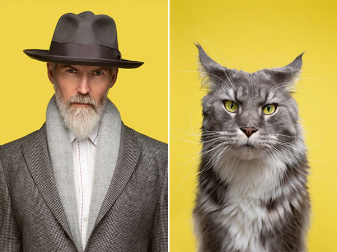 Owner and cat.