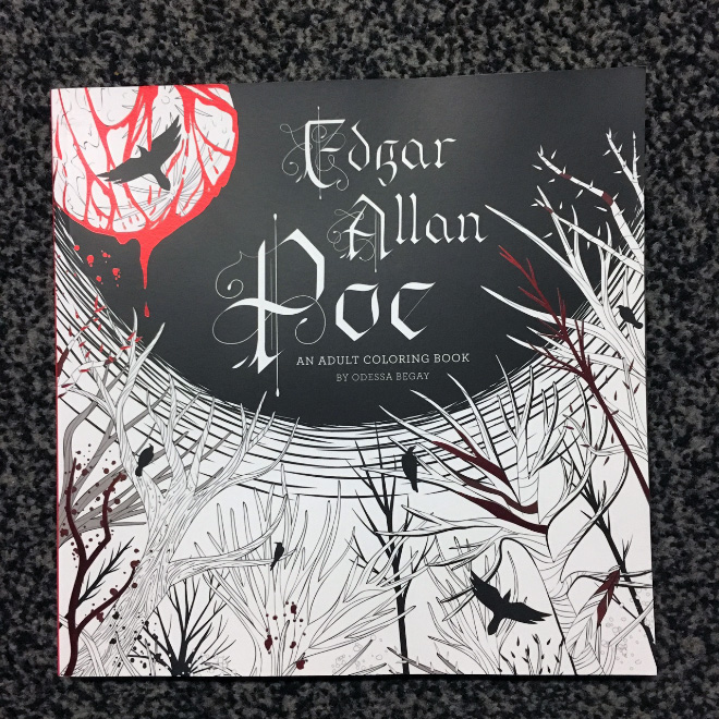 Leave the modern world and its demands behind while entering the macabre, mysterious realm of Edgar Allan Poe's chilling tales by coloring haunting illustrations.