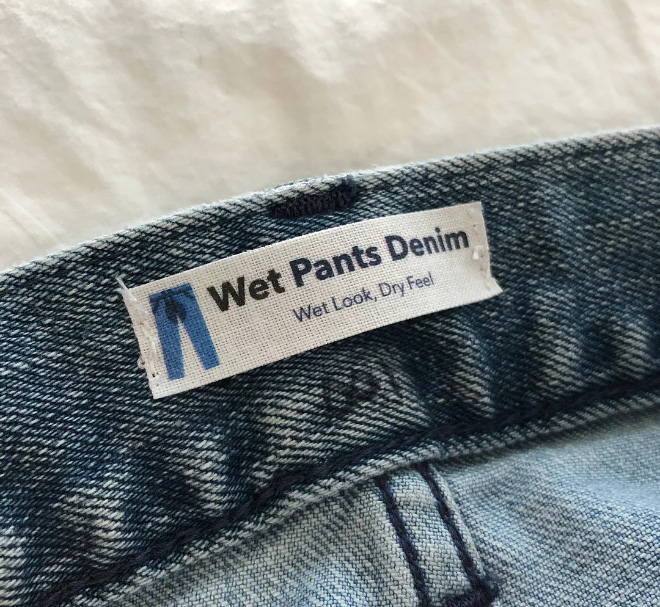 These jeans look like you justified pissed yourself, and will cost you $75.