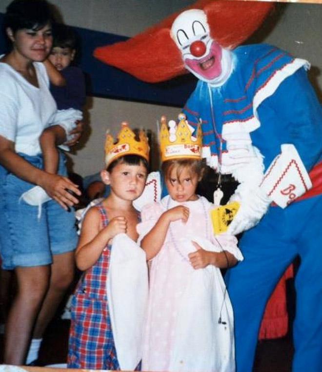 Creepy old clown photos are the worst.