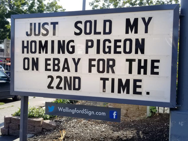 Funny gas station sign.
