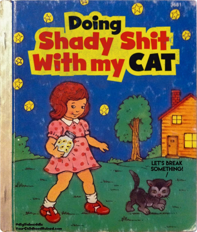 Parodie sinistre de livre pour enfants.