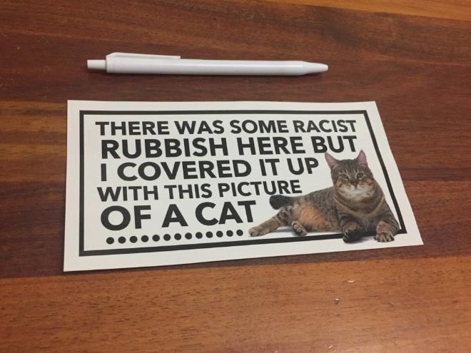 Brilliant cat sticker.