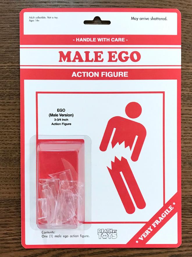 Really strange action figure.