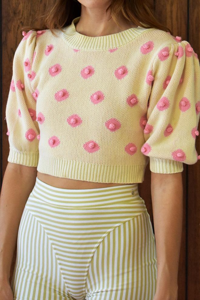 Nipple knit top.