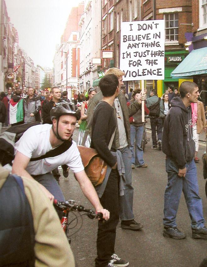 First world anarchy.