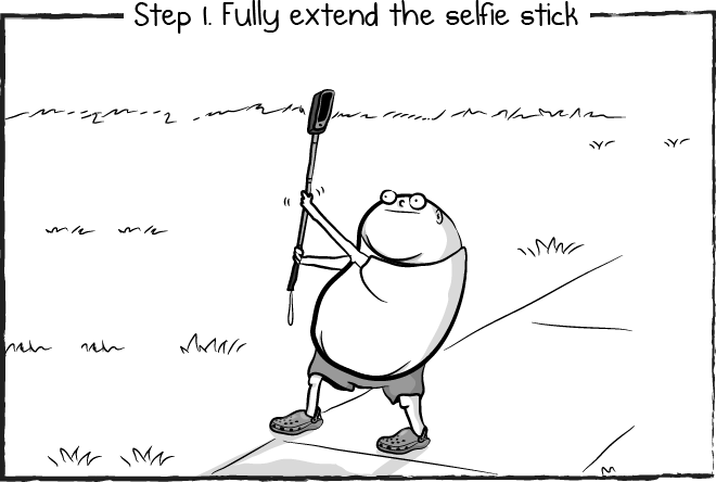 How to use a selfie stick.