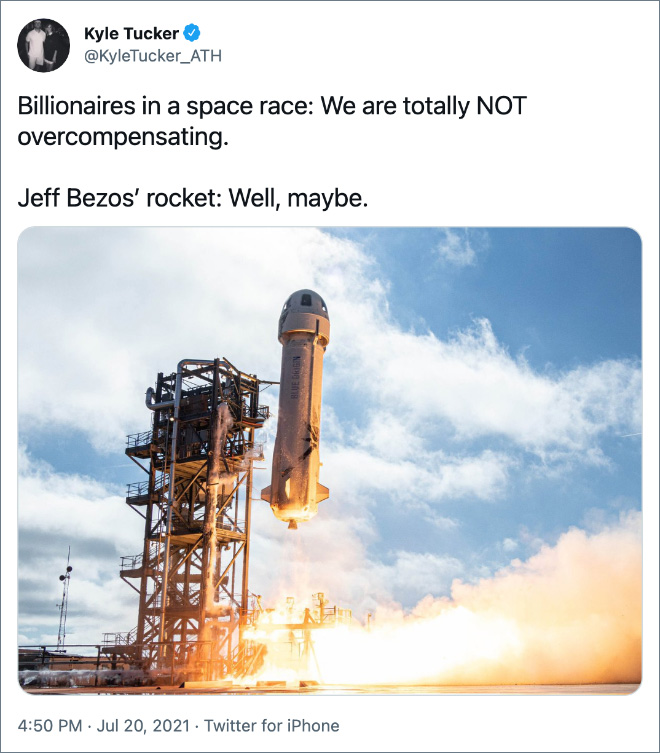 Billionaires in a space race: We are totally NOT overcompensating.