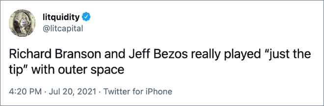 """Richard Branson and Jeff Bezos really played """"just the tip"""" with outer space"""