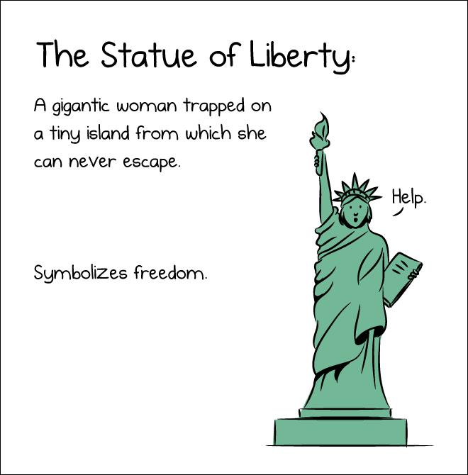 This symbolizes freedom.