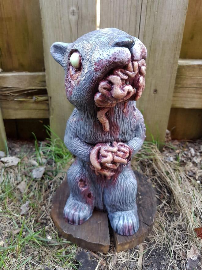 Zombie garden squirrel.